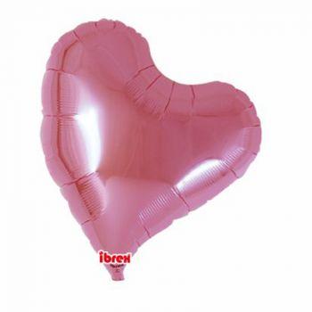 Ballon helium coeur design rose pastel 35cm
