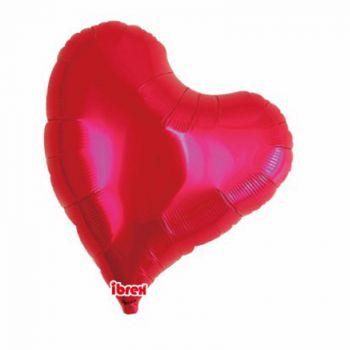 Ballon helium coeur design rouge 35cm