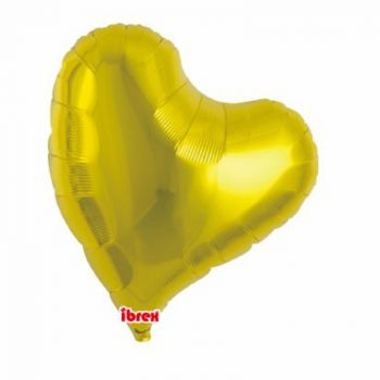 Ballon helium coeur design or 35cm