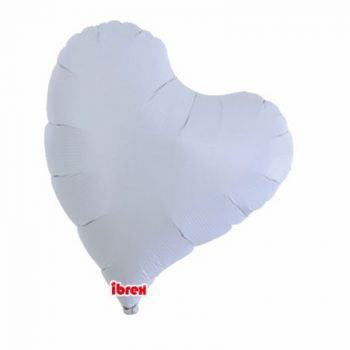 Ballon helium coeur design blanc 35cm