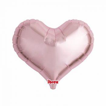 Ballon helium coeur rose pastel 35cm