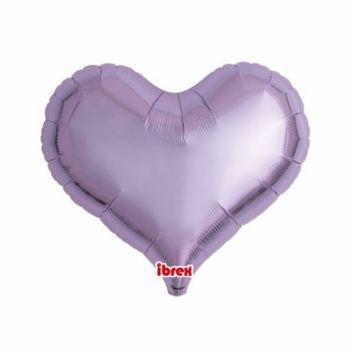 Ballon helium coeur lilas 35cm