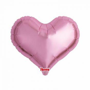 Ballon helium coeur rose 35cm