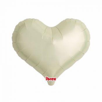 Ballon helium coeur ivoire 35cm