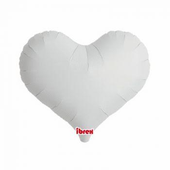 Ballon helium coeur blanc 35cm