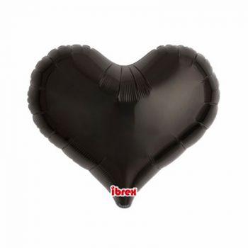 Ballon helium coeur noir 35cm
