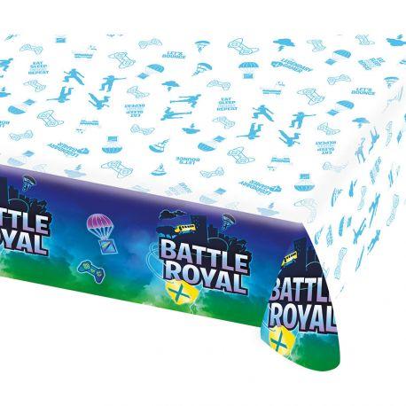 Nappe en papier Battle Royal pour une belle décoration d'anniversaire sur le thème Fortnite Dimensions : 243 x 137cm