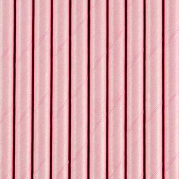10 Pailles papier rose