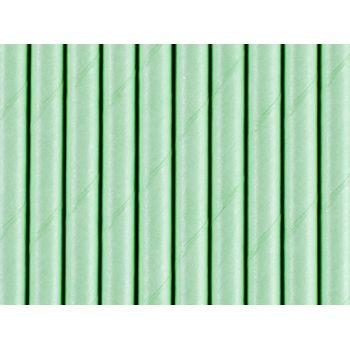 10 Pailles papier mint