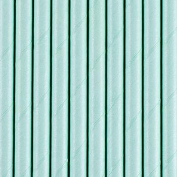 10 Pailles papier bleu pastel