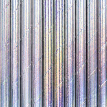 10 Pailles papier métallisé irisé
