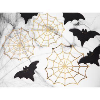 3 Toiles d'araignées métallisés or