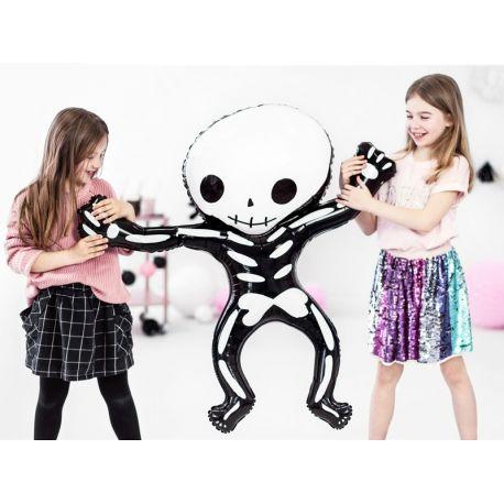 Ballons en aluminium en forme de jolie squelette pour la déco de votre fête d'Halloween.Peut être gonflé avec ou sans...
