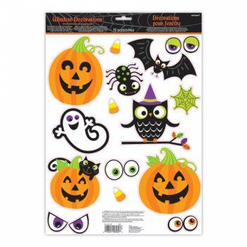 15 stickers de fenêtre Halloween kids