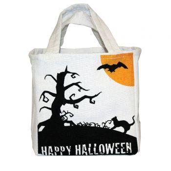 Sac à récolte Happy Halloween tissu