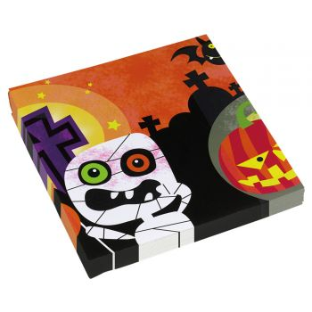 20 serviettes papier Happy Halloween kids