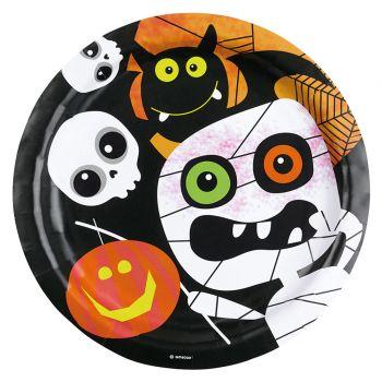 8 assiettes carton Happy Halloween kids