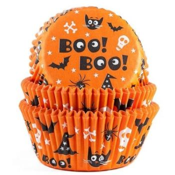 75 Caissettes cupcakes Boo Halloween