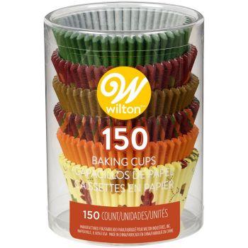Assortiment 150 caissettes cupcakes Automne Wilton