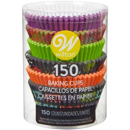 Assortiment de 150 caissettes à cupcakes en papier aux couleur d'Halloween prévu pour la cuisson à utiliser avec un moule à...