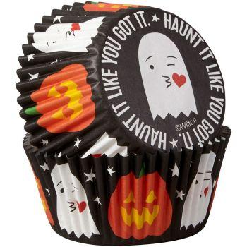 75 Caissettes cupcakes fantôme et citrouille Wilton