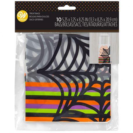 10 Mini sachets à récolte de bonbons en plastique pour la soirée d'HalloweenTaille : env. 13 x 8 x 21...