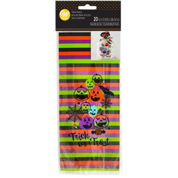 20 sachets à bonbons trick or treat Wilton