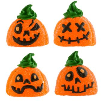 4 Figurines Citrouilles Halloween gélifiées