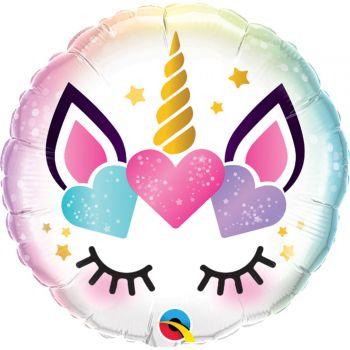 Ballon hélium Licorne coeur