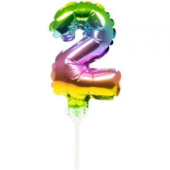 Cake topper ballon Arc en ciel N°2