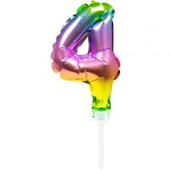 Cake topper ballon Arc en ciel N°4