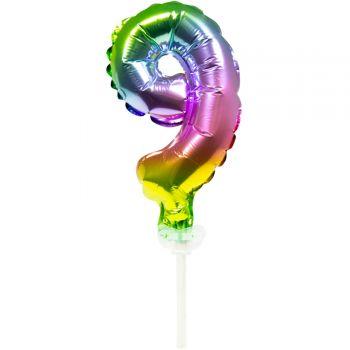 Cake topper ballon Arc en ciel N°9