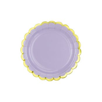 6 petites assiettes sweet pastel lilas
