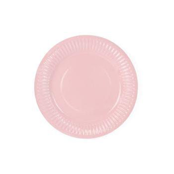 6 petites assiettes pastel rose