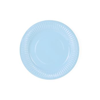 6 petites assiettes pastel bleu