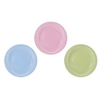 6 petites assiettes assortis pastel