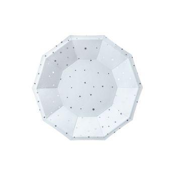 6 assiettes octo pastel bleu étoile argent