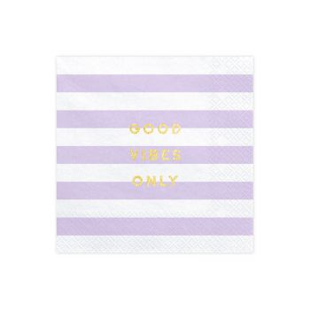 20 serviettes sweet pastel lilas