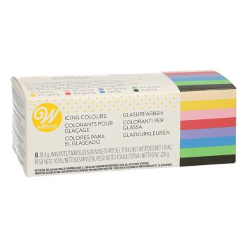 Kit 8 colorants alimentaires gel Wilton
