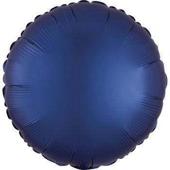 Ballon hélium satin luxe bleu marine rond