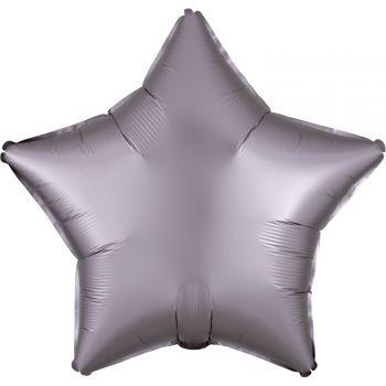 Ballon hélium satin luxe greige étoile