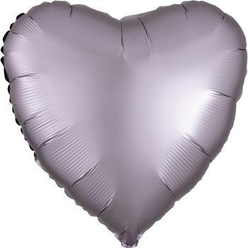 Ballon hélium satin luxe greige coeur