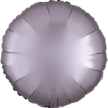 Ballon hélium satin luxe greige rond
