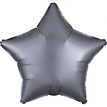 Ballon hélium satin luxe graphite étoile