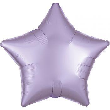 Ballon hélium satin luxe lilas pastel étoile