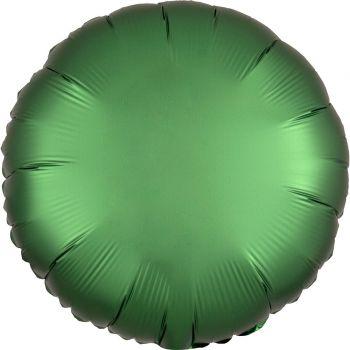 Ballon hélium satin luxe vert émeraude rond