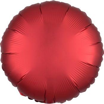 Ballon hélium satin luxe rouge rond