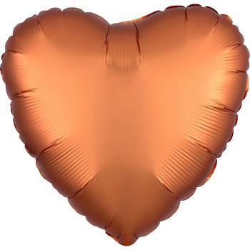Ballon hélium satin luxe ambre coeur