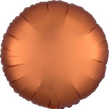 Ballon hélium satin luxe ambre rond