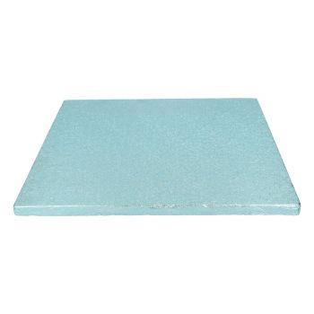 Semelle à gâteau carrée bleu bébé 12mm 30.5cm